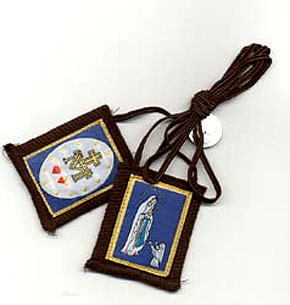 Immaculate conception lourdes scapular brown cord for St bernadette craft show