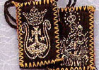 Our Lady of Mt. Carmel Cloth Scapular with Gold Embroidery