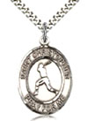 Sterling Silver Boys Baseball Sports Medal