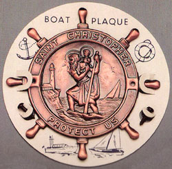 St Christopher Boat Plaque