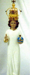 16 Inch Infant Jesus Statue with Gold Crown