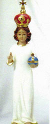 16 Inch Infant Jesus Statue with Red Crown