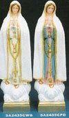 24 Inch Our Lady of Fatima Polyresin Statue