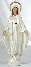 12 Inch Our Lady of Grace Pearlized Statue