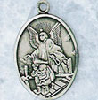 Guardian Angel Medal in Sterling Silver
