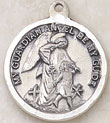 Sterling Round Guardian Angel Medal