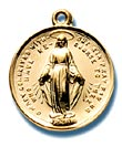 3/4 Inch Gold Mother Mary Medal