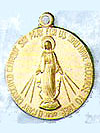 Round Simple 22 Karat Gold Filled Miraculous Medal