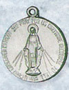 3/4 Inch Mother Mary Pewter Medal