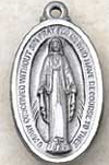 1 Inch Mother Mary Pewter Medal