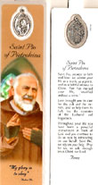St Padro Pio Laminated Bookmark
