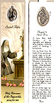St Rita Laminated Bookmark