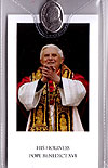 Pope Benedict XVI Prayer Card with Medal