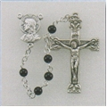 4 mm Genuine Onyx Rosary with Round Beads