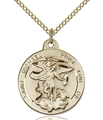 Gold Filled St Michael - Patron Saint of Police - DISC 12-16
