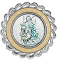 Crib Medal White - Guardian Angel