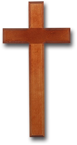 11 inches beveled light cherry wood cross for Wooden craft crosses wholesale