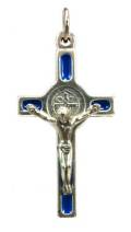 "1.5"" Blue St Benedict Crucifix"