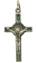 Gray St Benedict Crucifix