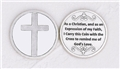 Silver Plated Cross in My Pocket Prayer Coin