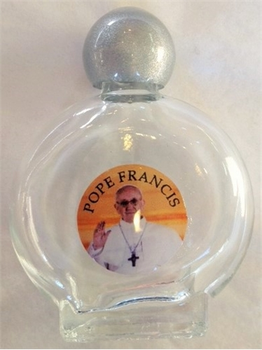 Pope Francis Glass Holy Water Bottle