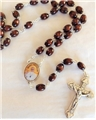 Wood Rosary with Pope Francis Center