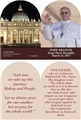 Pope Francis arched card with Our Father