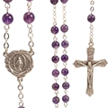 6 mm Genuine Gem Stone-Amethyst Rosary
