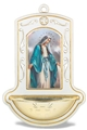 Our Lady of Grace Wooden Holy Water Font