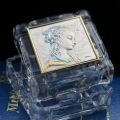 Crystal and Sterling Silver Lippi Madonna Box