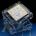 Crystal and Sterling Silver Annunciation Box