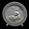 Crystal and Sterling Silver Baptism Plaque