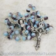 Teal and Purple marble-swirl Rosary