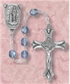 Blue Crystal Bead Lourdes Water Rosary