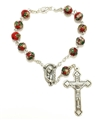 Red Cloisonne Auto Rosary