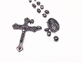 100 Black Cord Rosaries in Bulk