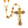 Deluxe Topaz Crystal Rosary