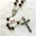 Genuine Tiger Eye, Golden Stone Rosary