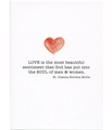 Love is the Most Beautiful Wedding Card