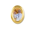 Pope Francis Oval Gold Lead Frame