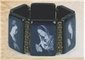 Large Black and White Sepia Madonna Bracelet