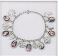 Enameled Madonna and Religious Medals Bracelet