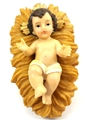 "6"" Removable Infant Jesus with Crib - Resin"