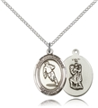 Skiing Sterling Silver Sports Medal