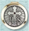 IHS Polished Brass Pyx-2.88 inchx0.5 inch