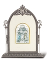 Sterling Silver Wedding at Cana in Antique Silver Frame