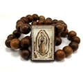 Our Lady of Guadalupe Bracelet with Rhinestones