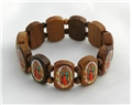 Large Our Lady of Guadalupe Wood Bracelet