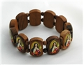 St. Therese Wooden Stretch Bracelet