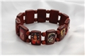 0.63 inch High Iconic Wood Bead Bracelet